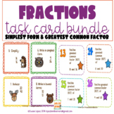 Fractions BUNDLE Simplest Form & Greatest Common Factor Ta