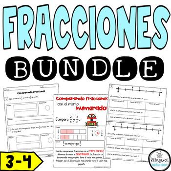 Fractions in Spanish Bundle -  Fracciones Bundle