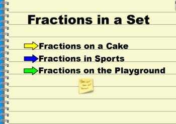 Fractions in a Set Flipchart Activities