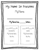 Fractions in my Name