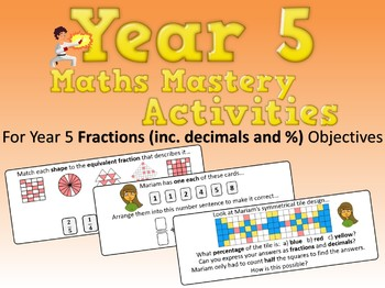Fractions (including Decimals) Mastery Activities – Year 5