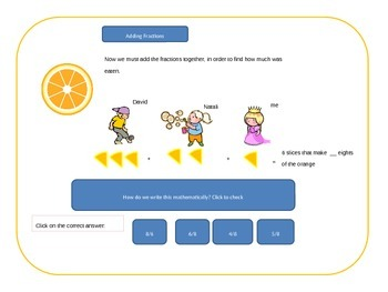 Fractions interactive presentation