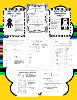Fractions into Simplest Form Intervention Worksheets