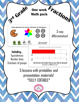 A week's worth of lessons: Fractions 3rd Grade