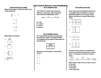 Fractions multi-step problems (basic)