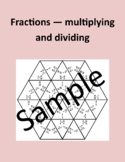 Fractions - multiplying and dividing - Math puzzle