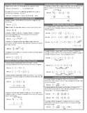"""Fractions """"notes sheet"""""""
