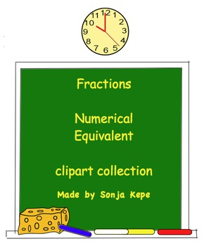 Fractions - numerical equivalent fractions - clipart collection