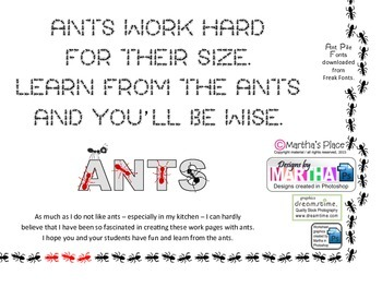 Fractions of Ants