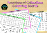 Fractions of Collections Colouring Boards