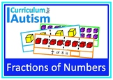 Fractions of Numbers Autism Math Task Box