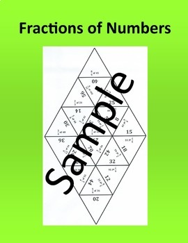 Fractions of Numbers – Math puzzle