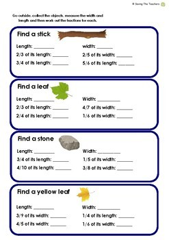 Fractions of Numbers: Outdoor Activity