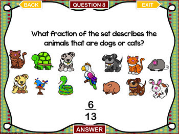 Fractions of a Set PowerPoint Games