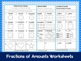 Fractions of Shapes & Amounts Worksheets