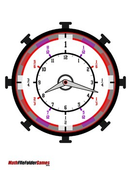 Fractions of Time {Math Game}