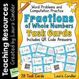 Fraction Task Cards with QR Codes | Fractions of Numbers