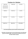 Fractions of a Collection Worksheets