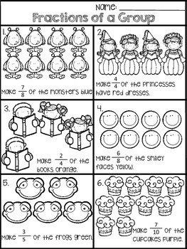 Fractions of a Group Activity Packet