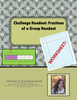 Fractions of a Group Handout - Problem Solving Challenge!