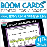 Fractions of a Number Line BOOM CARDS™ Digital Task Cards