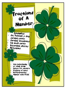 Fractions of a Number St. Patrick's Day