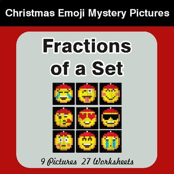 Fractions of a Set - Color-By-Number Christmas Mystery Pictures