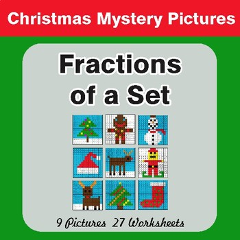 Fractions of a Set - Color-By-Number Mystery Pictures