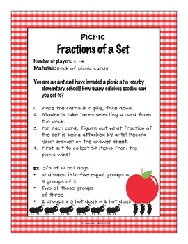 Fractions of a Set Common Core Math game