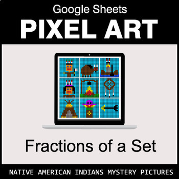 Fractions of a Set - Google Sheets Pixel Art - Native American Indians