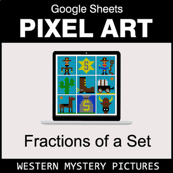 Fractions of a Set - Google Sheets Pixel Art - Western