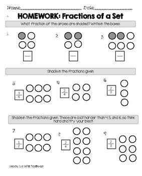 Fractions of a Set Homework