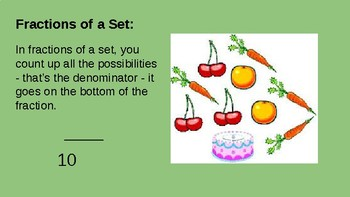 Fractions of a Set - Introducing and Exploring Sets