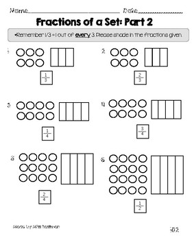 Fractions of a Set: Part 2