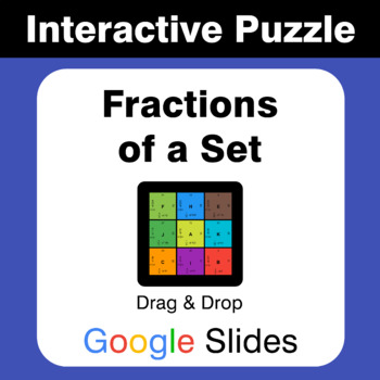 Fractions of a Set - Puzzles with GOOGLE Slides