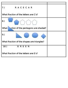 Fractions of a Set Worksheet