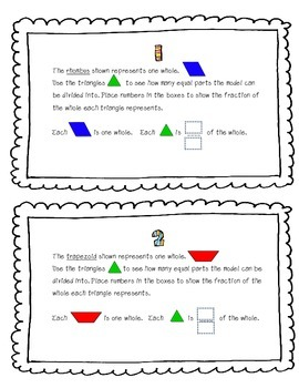Fractions of a Shape Task Cards