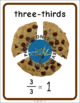 Fractions of a Whole Cookie Mini-Posters