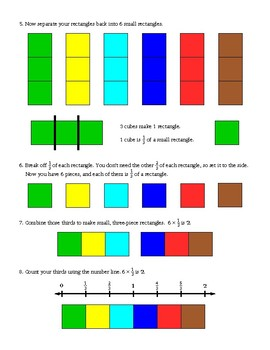 Fractions of a Whole Number Using Linking Cubes