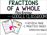 Fractions of a Whole - Review || GOOGLE CLASSROOM, Distanc