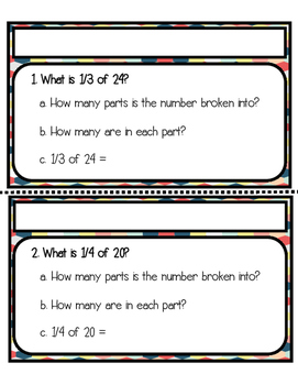 Multiplying Fractions by a Whole Number Differentiated Task Cards