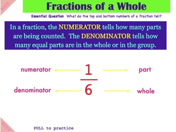 Fractions of a Whole pt 1 - A Common Core Interactive Mimio Lesson