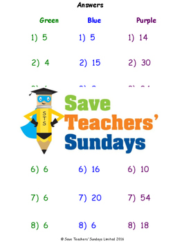 Fractions of amounts worksheets (4 levels of difficulty)