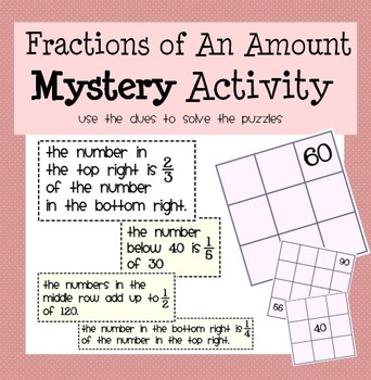 Fractions Mystery Activity