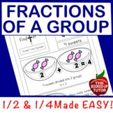 {fractions for beginners}  {fractions for kindergarten} {fractions worksheets}