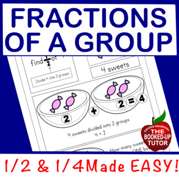 {halves and quarters fractions} {beginning fractions} {halves and fourths}