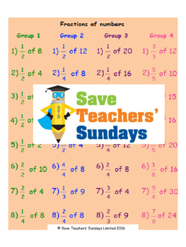 Fractions of numbers lesson plans, worksheets and more