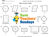 Fractions of shapes lesson plans, worksheets and more