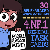 4.NF.1 Equivalent Fractions 4th Grade Task Cards ★ Self-Graded Google Classroom