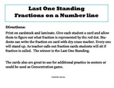 Fractions on Number Line-Last One Standing Game